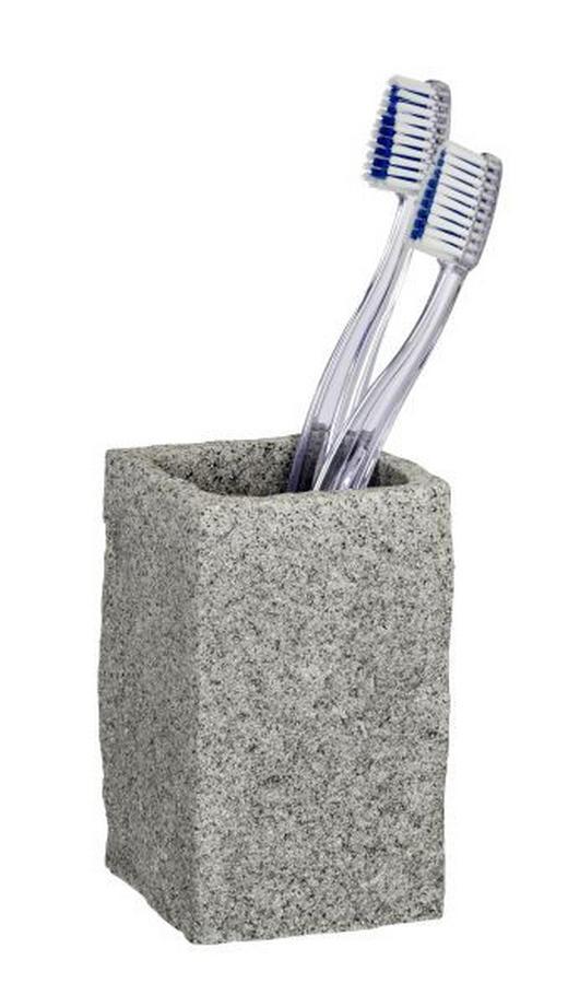 ZAHNPUTZBECHER - Grau, Basics, Kunststoff (6/6/10,5cm)