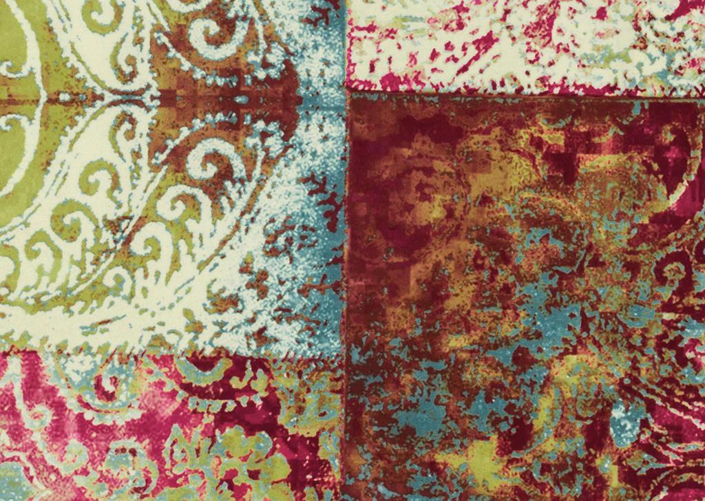 DREISITZER-SOFA Webstoff Grau - Multicolor/Grau, Design, Holz/Textil (235/87/98cm) - HOM`IN