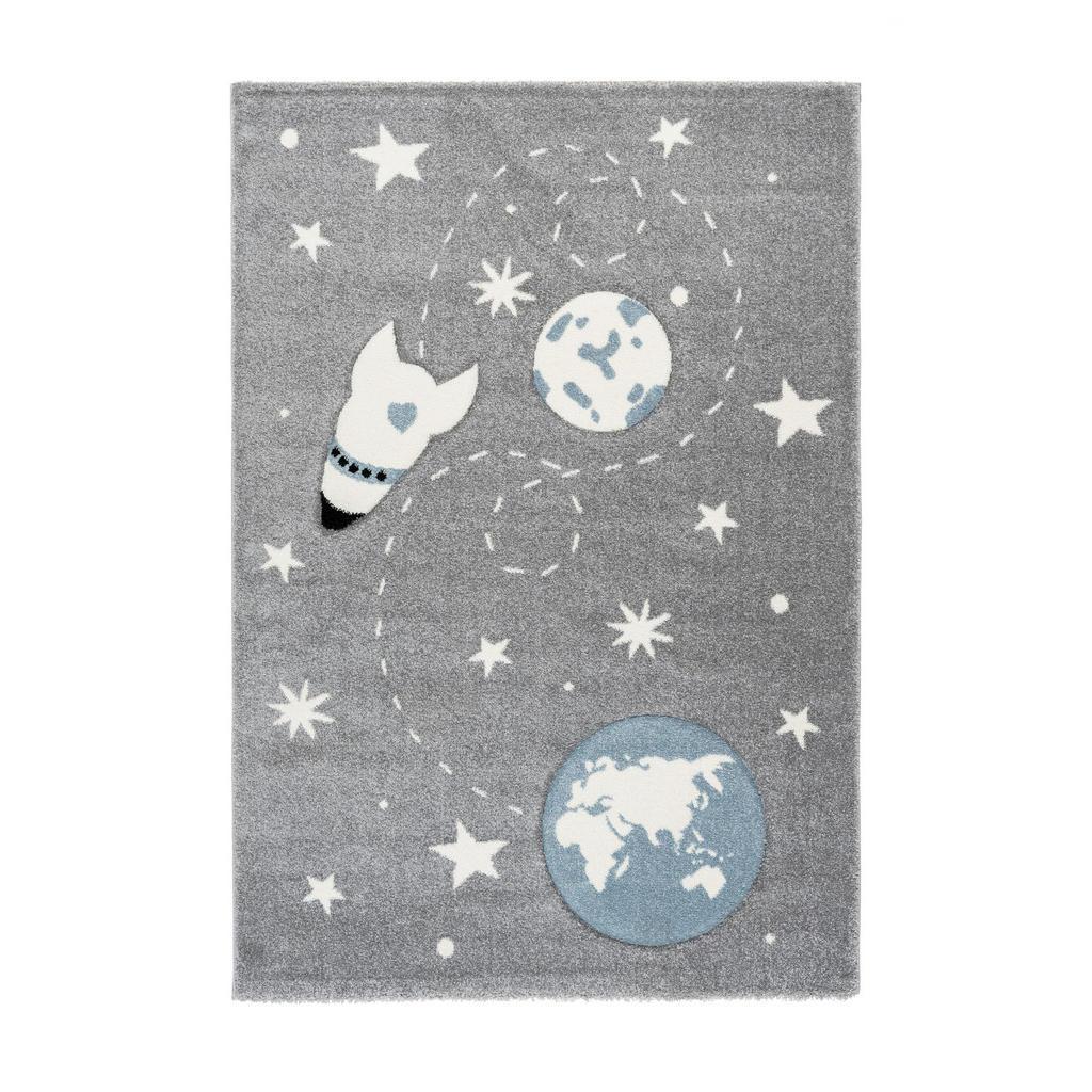 XXXLutz Kinderteppich 80/150 cm silberfarben , Yowah , Kunststoff , 80 cm , für Fußbodenheizung geeignet, in verschiedenen Größen erhältlich, strapazierfähig , 005937015954