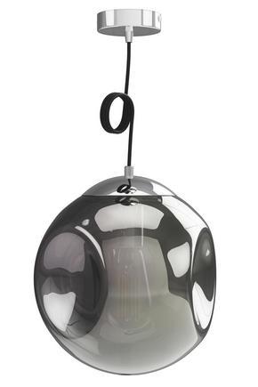 TAKLAMPA - grå, Design, glas (30cm) - Dieter Knoll