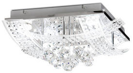 LED-DECKENLEUCHTE - Chromfarben, Design, Glas/Metall (44/44/18cm) - Novel