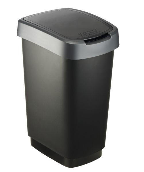 KOŠ ZA OTPAD - crna/antracit, Konvencionalno, plastika (33,3/25,2/47,6cm) - HOMEWARE