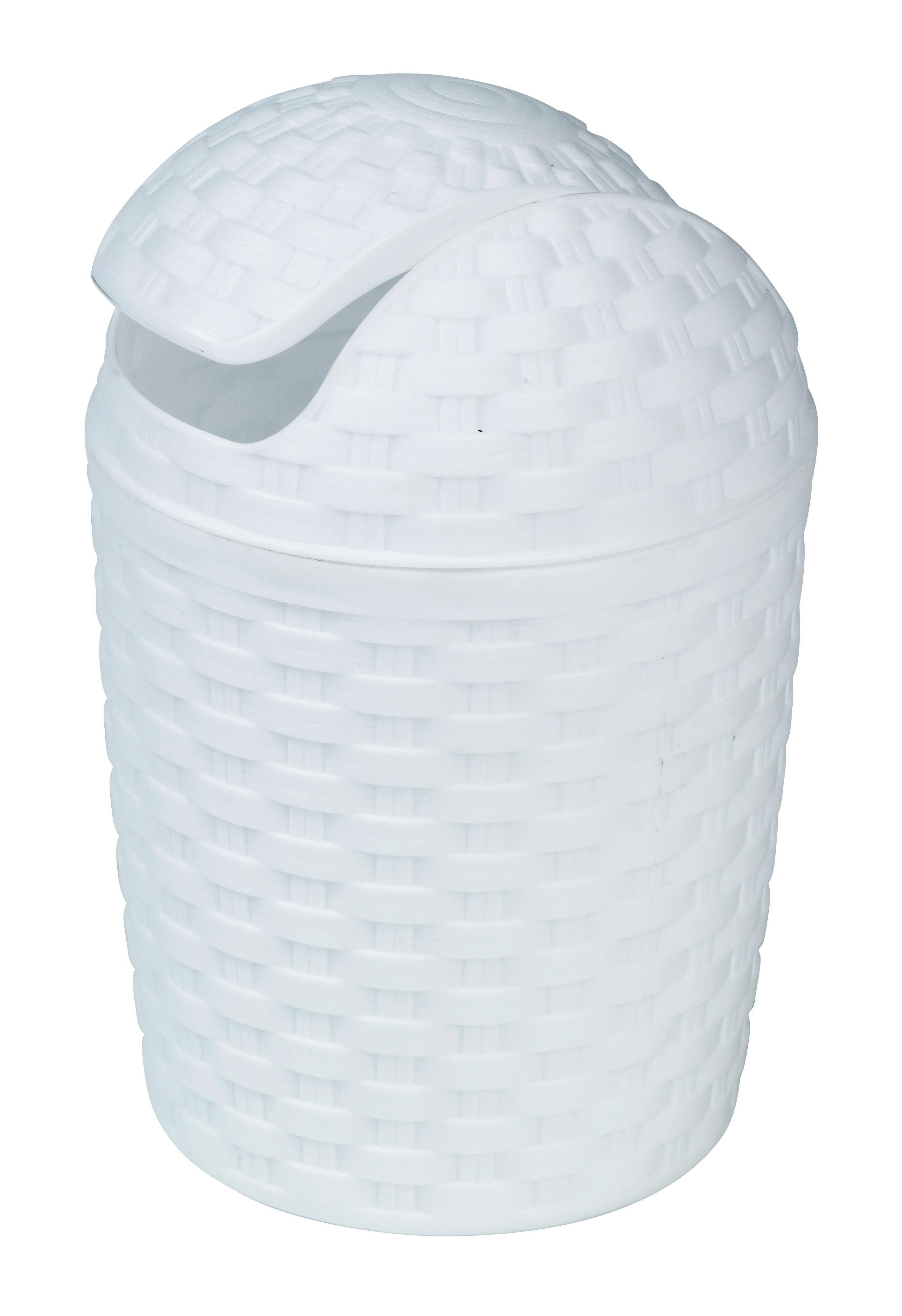 PAPPERSKORG MED VIPPLOCK - vit, Basics, plast (5,0l) - Plast 1