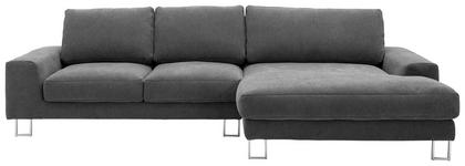 WOHNLANDSCHAFT in Textil Grau - Chromfarben/Grau, Design, Textil (316/170cm) - Dieter Knoll