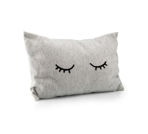 KISSENHÜLLE Schwarz, Weiß 40/60 cm  - Schwarz/Weiß, Trend, Textil (40/60cm) - David Fussenegger
