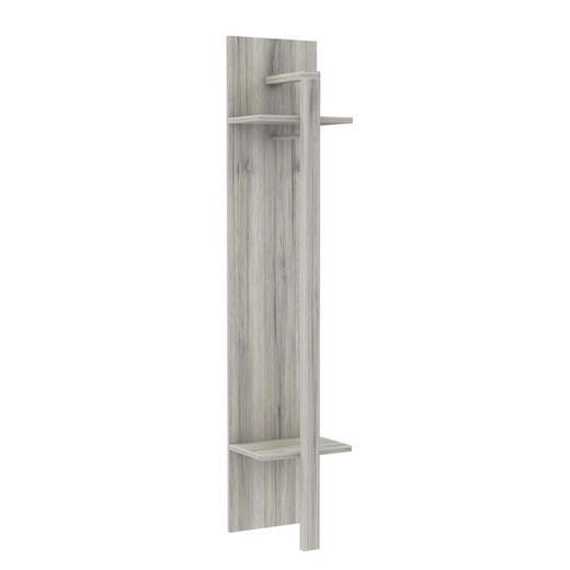 GARDEROBENPANEEL Eichefarben - Eichefarben, Design, Kunststoff/Metall (40/198,4/38,5cm) - CARRYHOME