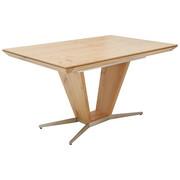 Esstisch in furniert Wildeiche Eichefarben, Nickelfarben - Eichefarben/Nickelfarben, Design, Holz/Metall (140/90/76cm) - Ambiente