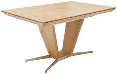 ESSTISCH Wildeiche furniert rechteckig Eichefarben, Nickelfarben  - Eichefarben/Nickelfarben, Design, Holz/Metall (140(190)/90/76cm) - Ambiente