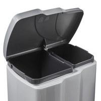 SUSTAV ZA ODVAJANJE OTPADA - boje srebra/crna, Basics, plastika (39,5/29/43cm)