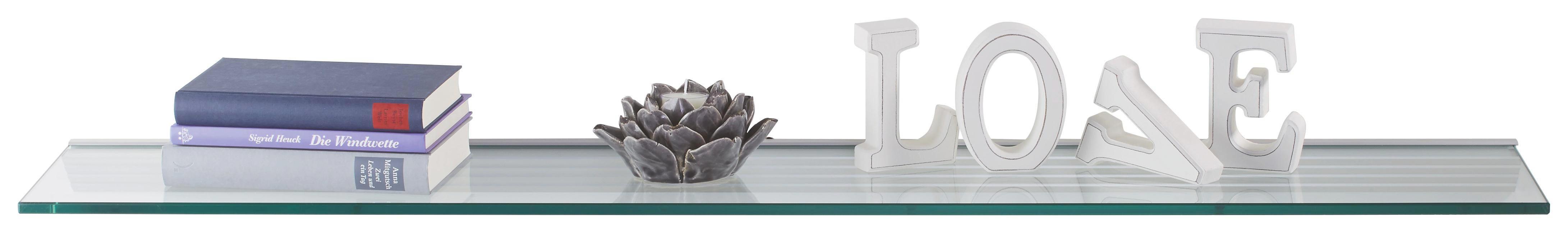 WANDBOARD in Transparent - Transparent, Glas (120/20cm)