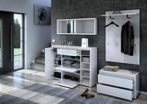 GARDEROBENPANEEL 84/130/32,6 cm  - Weiß, Design, Holzwerkstoff (84/130/32,6cm) - Xora