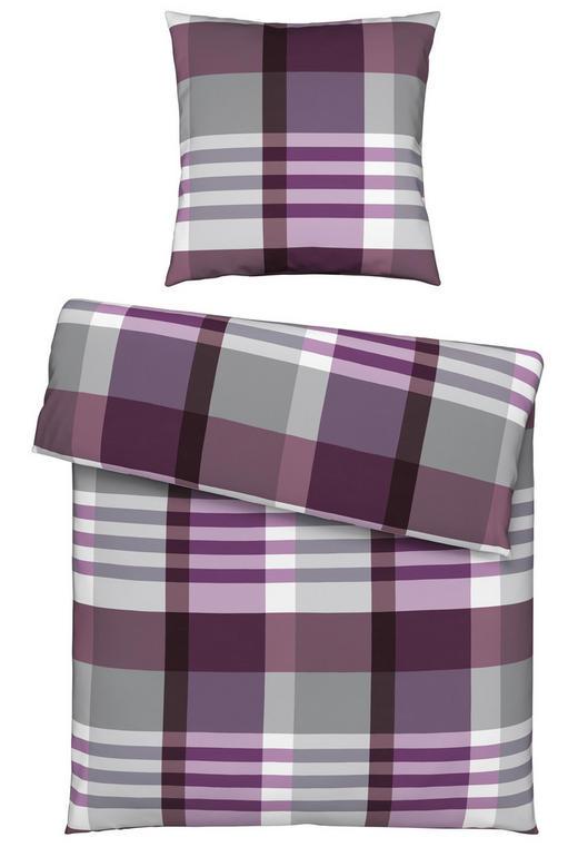 BETTWÄSCHE Biber Grau, Lila 155/220 cm - Lila/Grau, Design, Textil (155/220cm) - Esposa