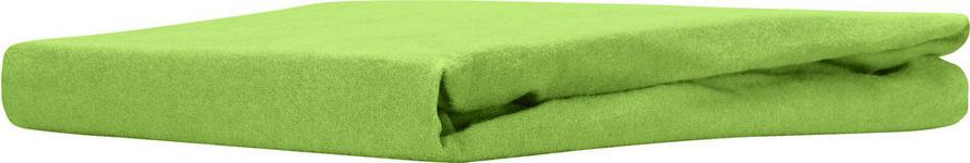 Spannleintuch Regina 100x200 cm - Grün, KONVENTIONELL, Textil (90-100/200cm) - Ombra