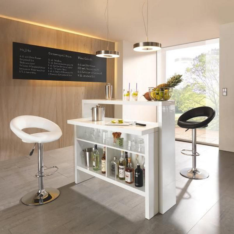 BARMODUL - vit, Design, träbaserade material (130/110/50cm) - Carryhome