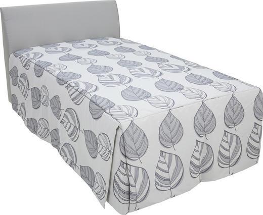 POLSTERBETT 120/210 cm - Weiß/Grau, KONVENTIONELL, Textil (120/210cm) - RUF