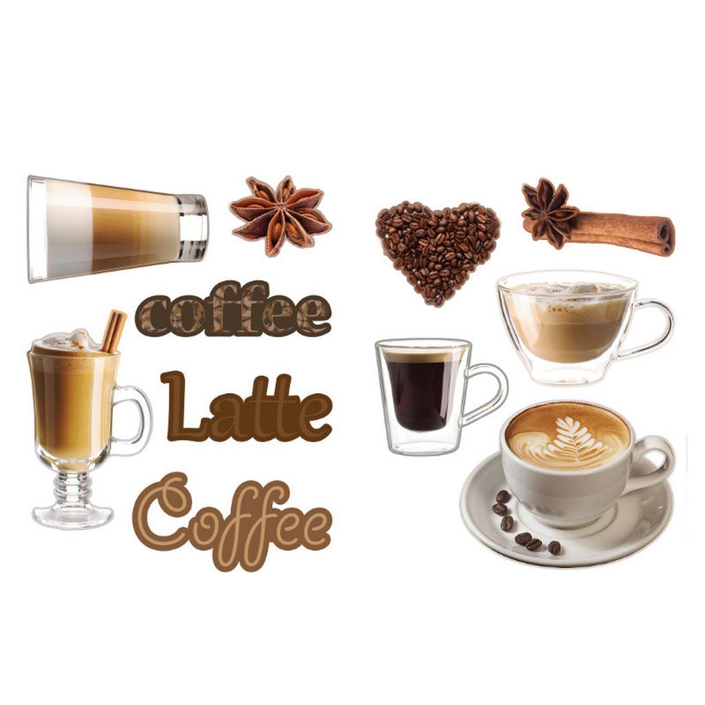 Euroart Kaffee dekosticker