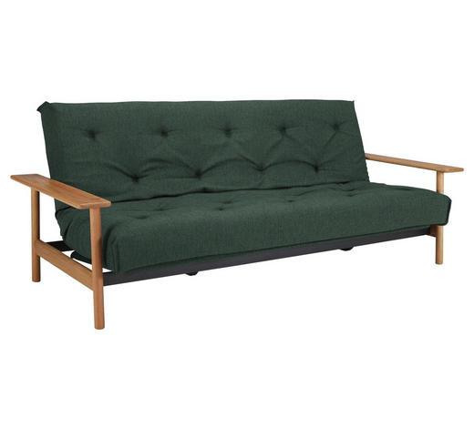 SCHLAFSOFA in Holz, Textil Grün, Eichefarben  - Eichefarben/Grün, Design, Holz/Textil (230/92/97cm) - Innovation