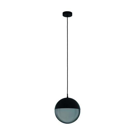 HÄNGELEUCHTE - Transparent/Schwarz, Design, Glas/Metall (27/110cm) - Dieter Knoll