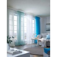FERTIGVORHANG transparent - Blau, Basics, Textil (135/300cm) - Boxxx