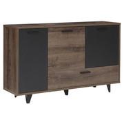 SIDEBOARD - Eichefarben/Schwarz, Design, Holzwerkstoff/Kunststoff (154,5/92,8/41,5cm) - Carryhome