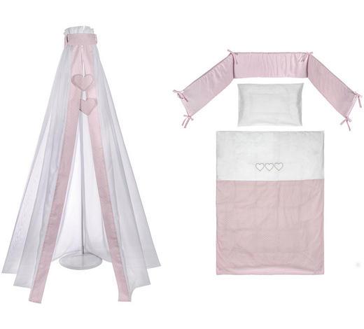 SADA DO DĚTSKÉ POSTÝLKY,  - bílá/růžová, Basics, textil - Patinio