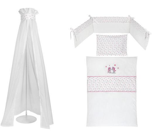 GITTERBETTSET 4-teilig Einhorn  - Pink/Rosa, Basics, Textil (100/140/160cm) - My Baby Lou