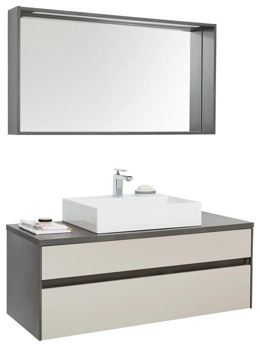 BADEZIMMER - Weiß/Grau, Design, Glas/Keramik (120cm) - Novel