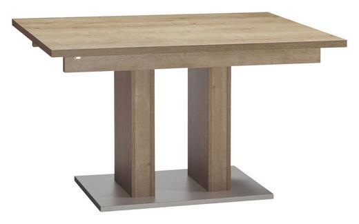 ESSTISCH in Holzwerkstoff - Edelstahlfarben/Eichefarben, KONVENTIONELL, Holzwerkstoff (120/90/75cm) - Venda