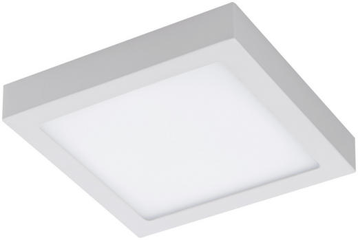 LED-PANEEL - Weiß, Design, Kunststoff/Metall (22,5/22,5/4cm)