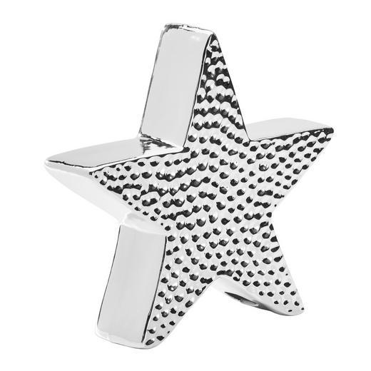 DEKOSTERN  Silberfarben - Silberfarben, Basics, Keramik (26/24/6,5cm) - X-Mas