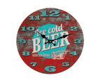 STENSKA URA ICE COLD BEER  večbarvno  - večbarvno, Konvencionalno, steklo (5/35cm)