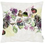 KISSENHÜLLE Lila, Multicolor, Naturfarben  - Lila/Multicolor, KONVENTIONELL, Textil (49x49cm) - Landscape