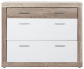 SKOSKÅP - vit/kromfärg, Design, plast (120/99/36cm)