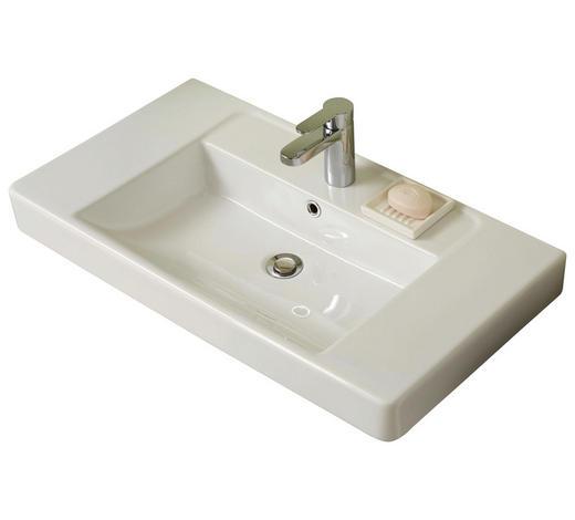 WASCHBECKEN 80/9/45 cm - Weiß, MODERN, Keramik (80/9/45cm) - Xora