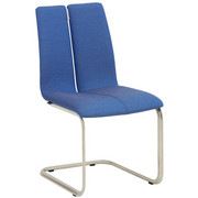 SCHWINGSTUHL in Metall, Textil Blau, Edelstahlfarben - Blau/Edelstahlfarben, Design, Textil/Metall (48/93/59cm) - Venjakob