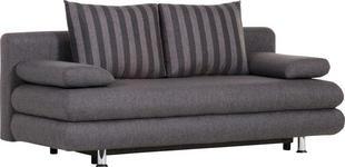 SCHLAFSOFA in Textil Grau  - Chromfarben/Grau, Design, Kunststoff/Textil (196/74/90cm) - Carryhome