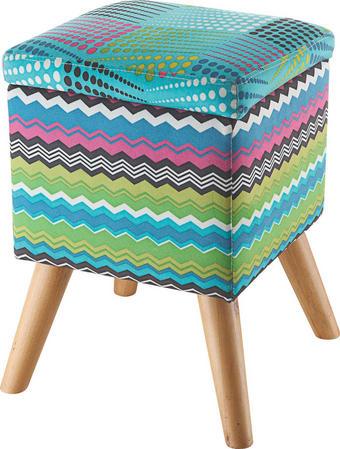 TABURE - višebojno, Design, drvo/tekstil (31/44/31cm) - HOM IN