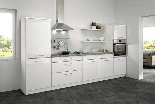 Küchenblock ohne E-Geräte 330 cm - Weiß, Design (330cm) - Set one by Musterrin