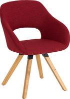 STUHL Wildeiche massiv Eichefarben, Rot - Eichefarben/Rot, Design, Holz/Textil (62/80/60cm) - VALNATURA