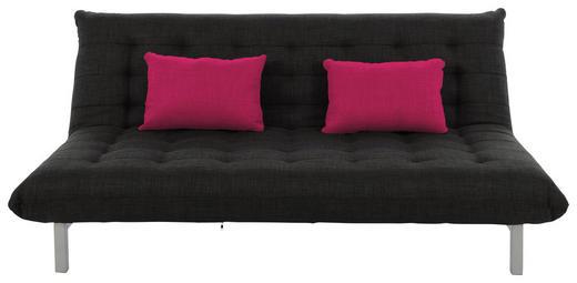 SCHLAFSOFA Webstoff Anthrazit - Chromfarben/Anthrazit, Design, Textil/Metall (188/85/100cm) - Carryhome