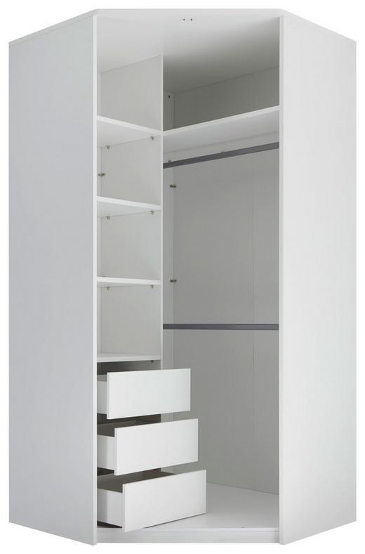 ECKSCHRANKKORPUS 112/230/112 cm - Weiß, KONVENTIONELL (112/230/112cm) - Carryhome