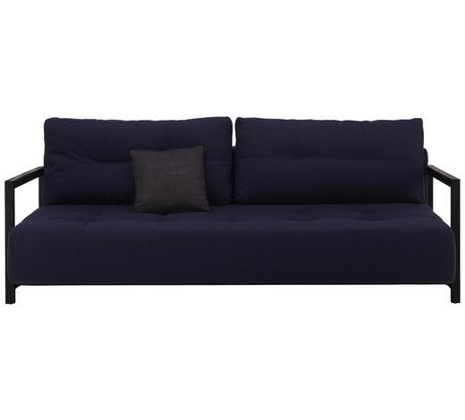 SCHLAFSOFA Webstoff Blau  - Blau/Schwarz, MODERN, Holz/Textil (210/70/115cm) - Innovation