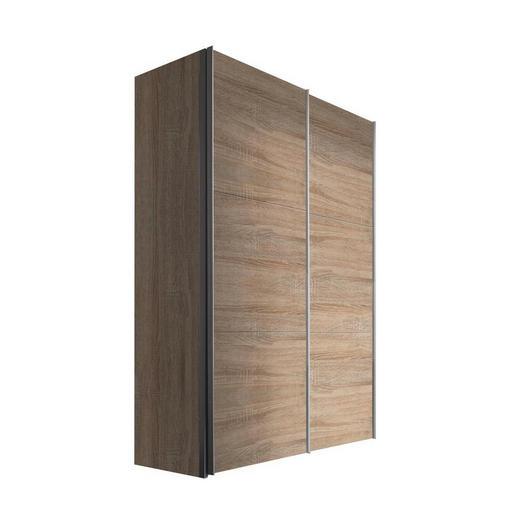 SCHWEBETÜRENSCHRANK 2-türig Sonoma Eiche - Alufarben/Sonoma Eiche, KONVENTIONELL, Holzwerkstoff/Metall (150/216/68cm) - Hom`in