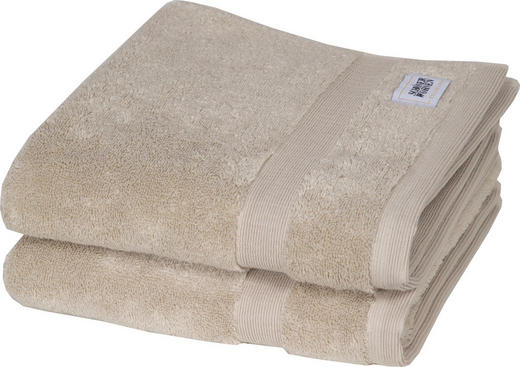 HANDTUCH 50/100 cm 2-teilig - Sandfarben, Textil (50/100cm) - Schöner Wohnen