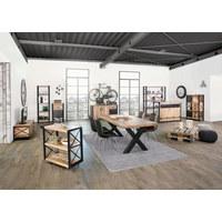 SERVIERWAGEN Holz, Metall Akazie massiv Naturfarben - Naturfarben, Design, Holz/Metall (88/82/40cm)