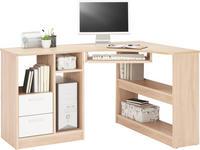 ECKSCHREIBTISCH - Eichefarben/Alufarben, KONVENTIONELL, Holzwerkstoff/Kunststoff (138/78/95cm) - Cantus