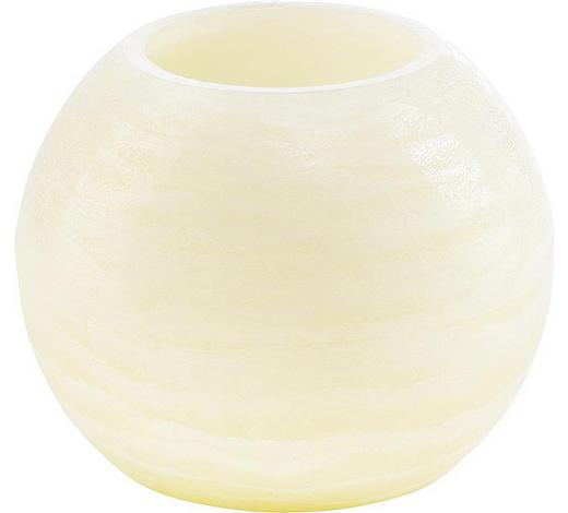 KERZE MIT LED 11,5/10 cm - Creme, Basics (11,5/10cm)