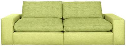 MEGASOFA in Textil Grün - Schwarz/Grün, Design, Kunststoff/Textil (266/84/123cm) - Hom`in