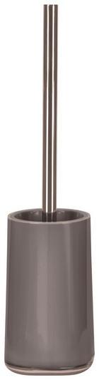 Wc-bürstengarnitur - Platinfarben/Chromfarben, Basics, Kunststoff (9,6/39/9,6cm) - Kleine Wolke