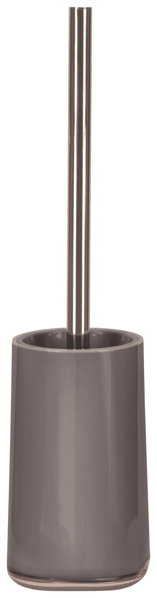 WC-BÜRSTENGARNITUR in Kunststoff - Platinfarben/Chromfarben, Basics, Kunststoff (9,6/39/9,6cm) - Kleine Wolke